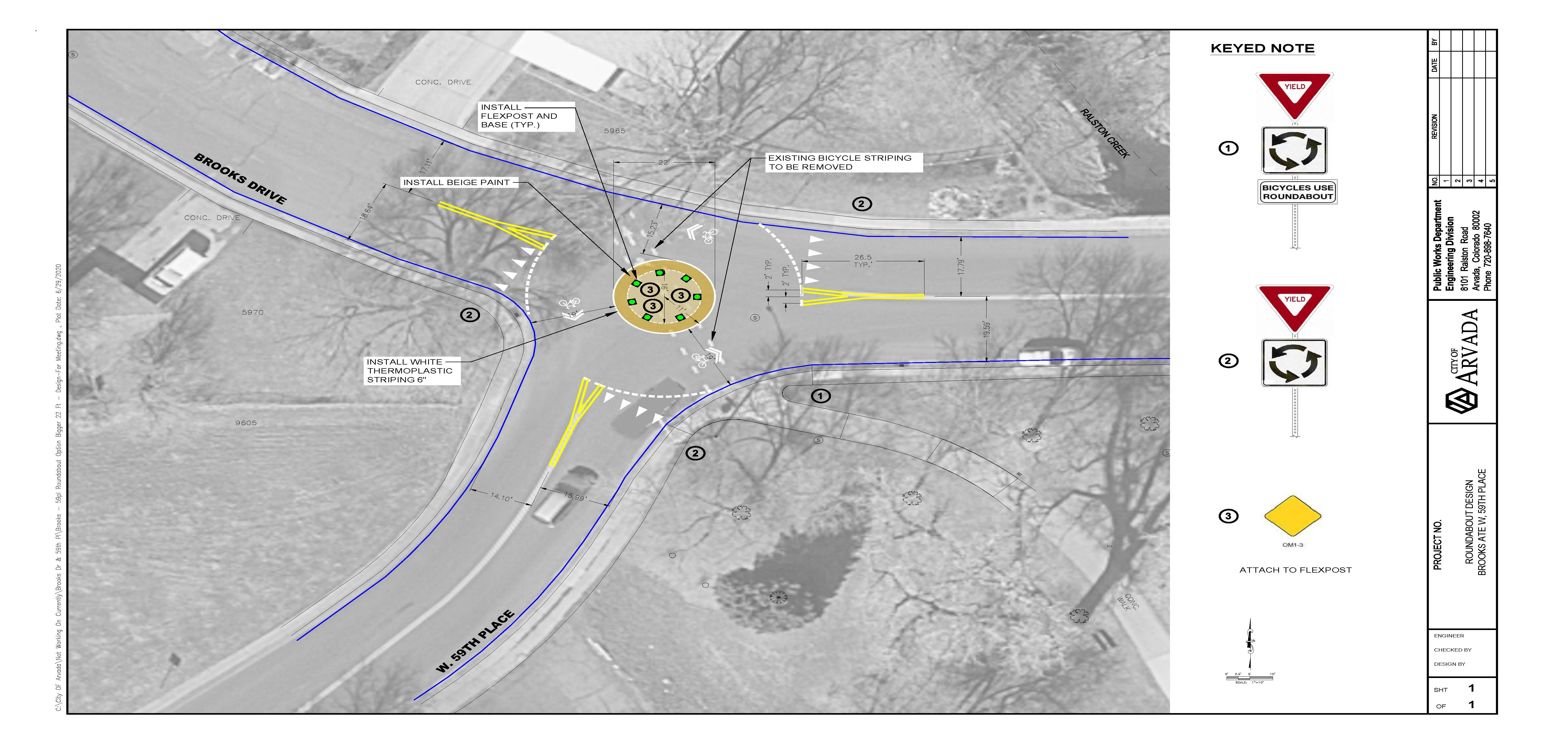 diagram of traffic circle design