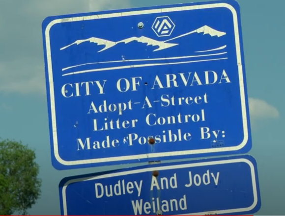City of Arvada Adopt A Trail Sign