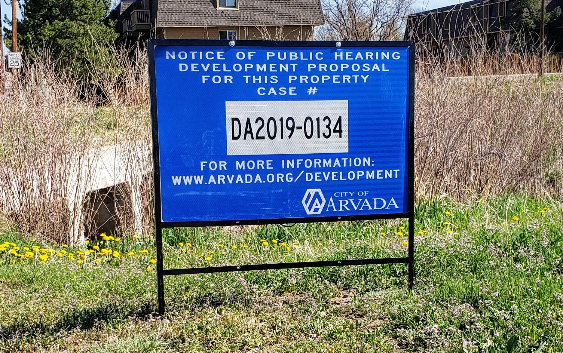 Image of a sign at the property location